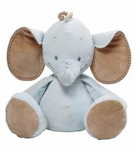 Peluche Geante Elephant : nattou peluche el phant rigolos bleu 60 cm ~ Teatrodelosmanantiales.com Idées de Décoration