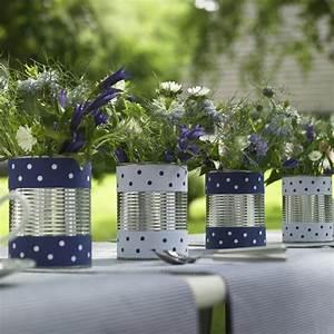 Deko Für Weiße Möbel : blau wei e sommer deko f r den garten blumen in dosen mit gepunkteter borduere 600 6006 ~ Indierocktalk.com Haus und Dekorationen