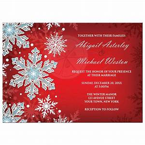 wedding invitations royal red white blue snowflake With royal blue and red wedding invitations