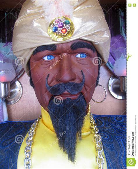 mechanical fortune teller stock photo image