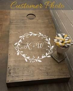 decor wedding cornhole decals 2506214 weddbook With diy wedding gifts for bride and groom
