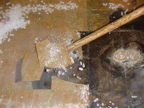 floor tile damaged  dry icer