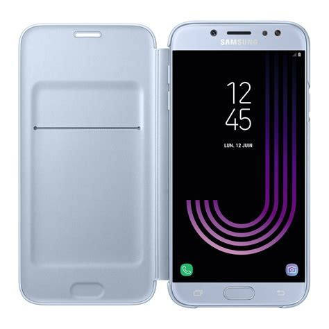 J7 2017 Bleu Samsung Flip Wallet Bleu Galaxy J7 2017 Etui T 233 L 233 Phone Samsung Sur Ldlc