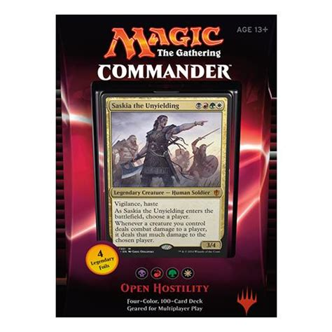 premade commander decks 2012 mtg magic the gathering commander 2016 100 card deck open