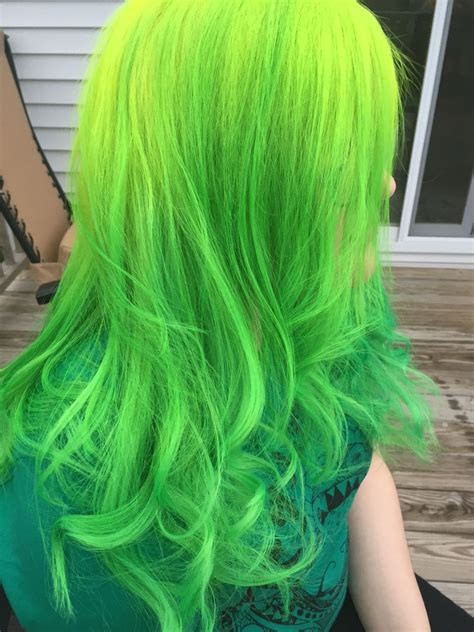 Pravana Vivids Neon Yellow Melted Into Neon Green By Me