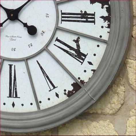 horloge cuisine style ancienne grande horloge pendule murale en fer de