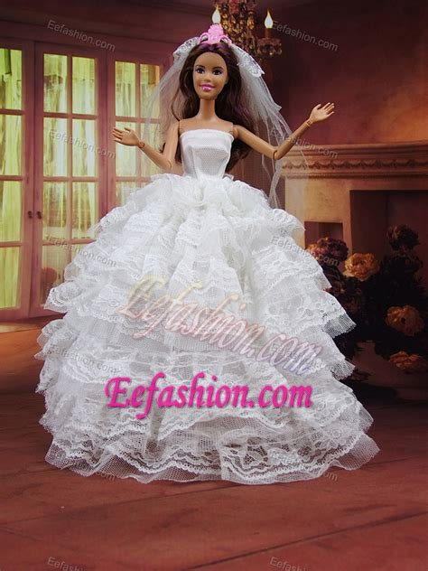 doll wedding dresses wedding dress to doll with ruffled layers