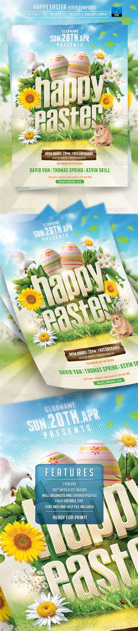 eastern creative multipurpose template zip happy easter flyer template print ad templates