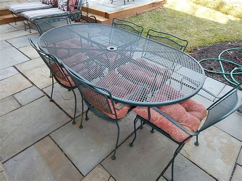 wrought iron table ls wrought iron picnic table choice image bar height dining