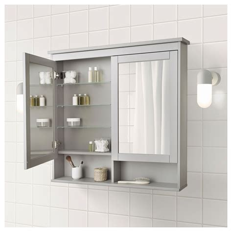 Bathroom Mirrors At Ikea by Hemnes Mirror Cabinet With 2 Doors Gray In 2018