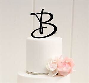 monogram cake topper monogram letter cake topper autos With letter wedding cake toppers