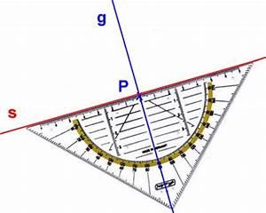 Senkrechte Gerade Berechnen : konstruktion einer senkrechten s zur geraden g im punkt p ~ Themetempest.com Abrechnung