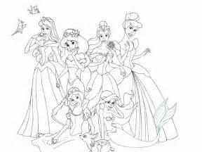 Coloriage Princesse Disney Imprimer