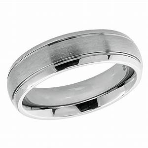 Men39s 6mm Titanium Wedding Band Engagement Ring Domed