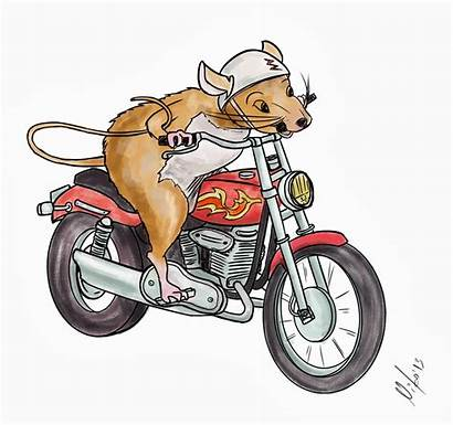 Motorcycle Mouse Ralph Talking Animals Drawings Characters