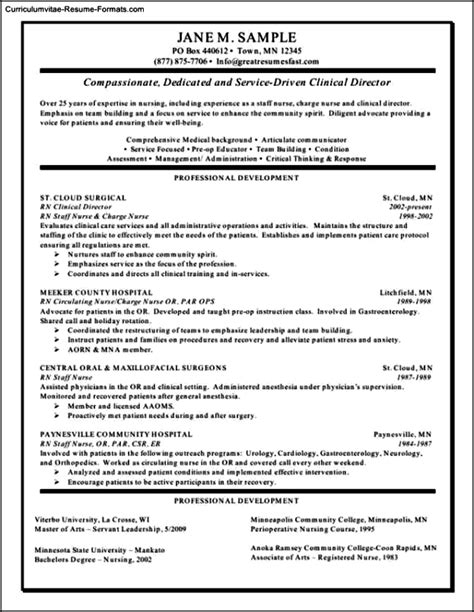 Rn Resume Templates by Rn Resume Template Free Sles Exles Format