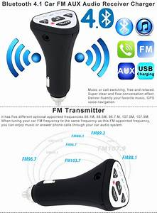 Fm Receiver Auto : bluetooth 4 1 wireless car aux stereo audio receiver fm ~ Jslefanu.com Haus und Dekorationen