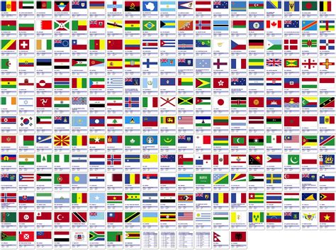 world flags printable map pictures