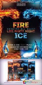 Fire  U0026 Ice Party Flyer 9221177  U00bb Free Download Photoshop Vector Stock Image Via Torrent