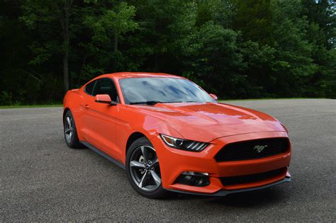 ford mustang ecoboost premium orange color