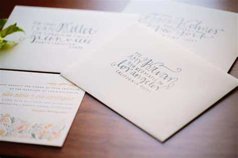 diy wedding envelope addressing tips julep