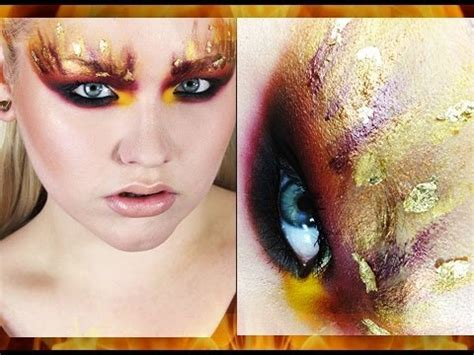 makeup tutorial  hunger games  girl  fire