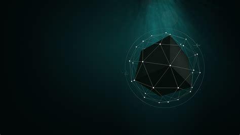 full hd wallpaper scheme polygon turquoise light desktop