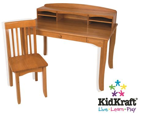 kidkraft avalon desk and chair set kidkraft avalon desk with hutch and chair honey