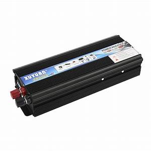 Transfo 220 12v : new 2000w power inverter dc 12v ac 220v car converter electronic usb port black ebay ~ Dode.kayakingforconservation.com Idées de Décoration