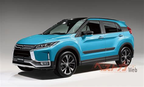 Mitsubishi 2019 : Next-gen Mitsubishi Rvr B-segment Suv Rendered