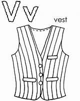 Vest Colouring Waitress Picolour sketch template