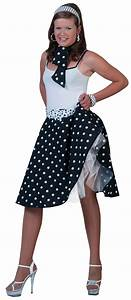 Black 50s Rock N Roll Costume | All Ladies Costumes | Mega Fancy Dress