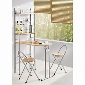 cuisine bar pliable 2 etageres et 2 tabourets achat With beautiful meuble gain de place cuisine 3 petits espaces les 20 meubles gain de place de la