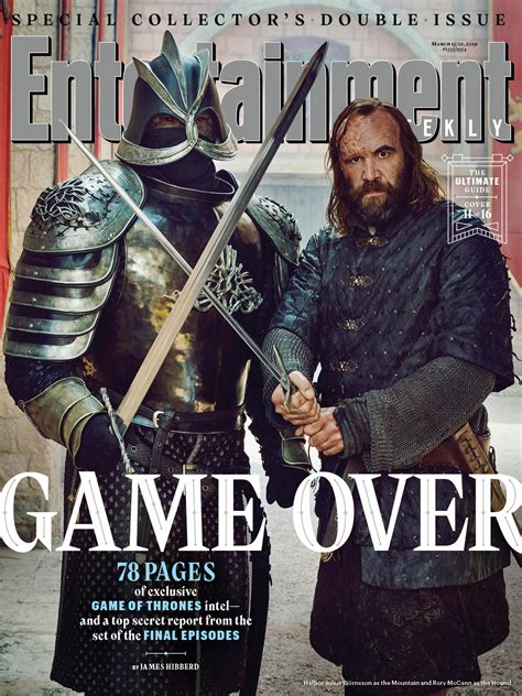 game  thrones season  graces  entertainment weekly covers