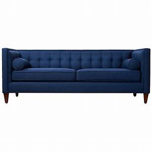 jodi 84quot tufted sofa navy sofas loveseats 1519 liked With navy blue tufted sectional sofa