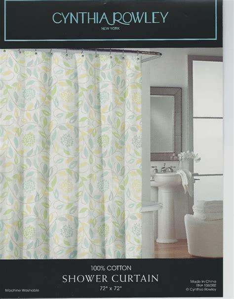 Cynthia Rowley Ruffle Window Curtains by Cynthia Rowley Fabric Shower Curtain Blue Yellow Floral