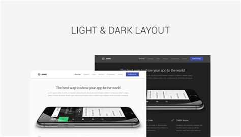Themeforest Gravity Material Mobile App Template by James Material Design Mobile App Landing Page By Shegy