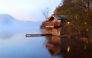 Beautiful House Near The Lake 4k ultra hd wallpaper for ...