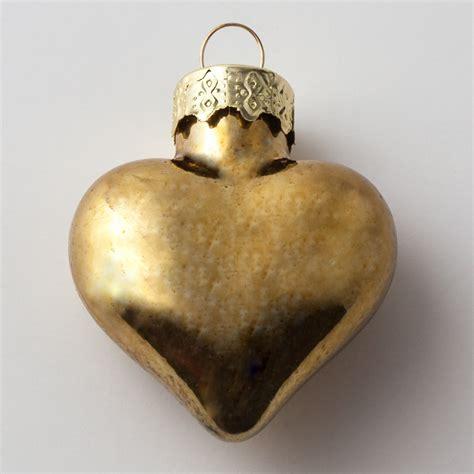 gold glass heart christmas ornament