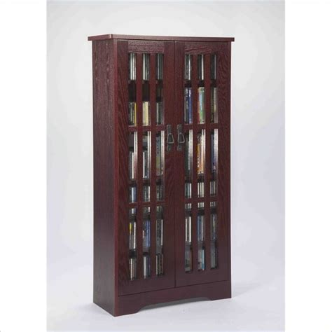 Leslie Dame Deluxe Media Storage Cabinet by Leslie Dame 62 Inch Cd Dvd Media Storage Cabinet In