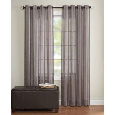walmart sheer curtains better homes and gardens toby sheer curtain panel