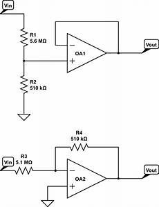 op amp buffered voltage divider vs inverting amplifier With circuitlab vga resistor dac
