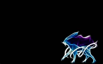Pokemon Legendary Suicune Fractalius Wallpapers Desktop Background