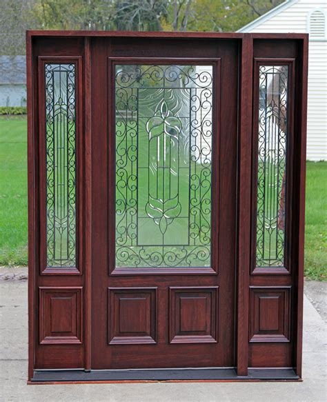 doors with sidelights exterior doors with sidelights solid mahogany entry doors