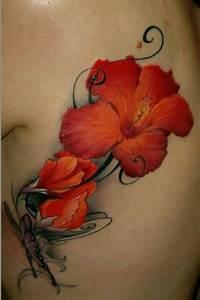 Tribal Hibiscus Designs 30 Flowers Tattoos On Side Rib
