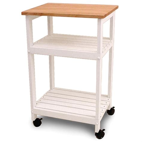Utility  Microwave Butcher Block Cart  110246, Kitchen