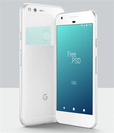 Free for personal and commercial use rar file includes: Free White Google Pixel PSD Mockup - TitanUI