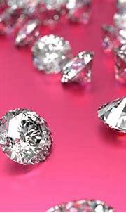 Luxury Diamonds On Pink Background Stock Photo - Download ...