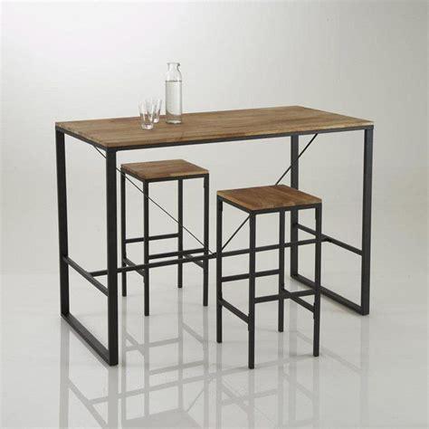 table haute de salle a manger tabouret de bar haut forme carr 233 e hiba lot de 2 la redoute interieurs prix avis