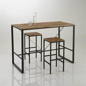 Tabouret Table Haute : tabouret de bar haut forme carr e hiba lot de 2 bar ~ Teatrodelosmanantiales.com Idées de Décoration